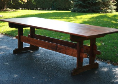 12 ft long trestle table