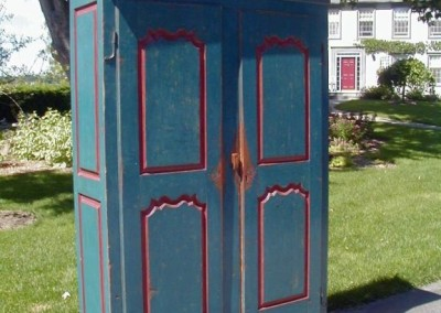 Louis XV armoire blue with red