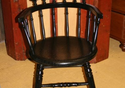 black captains chair