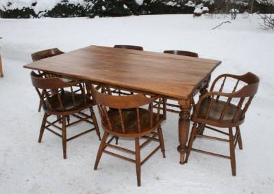 drop leaf harv tbl and 6 chairs 2