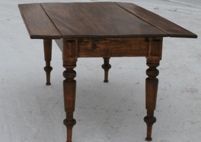 drop leaf harvest table blind end