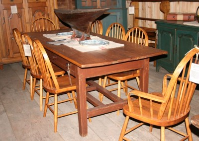 scullery table w repro chairs